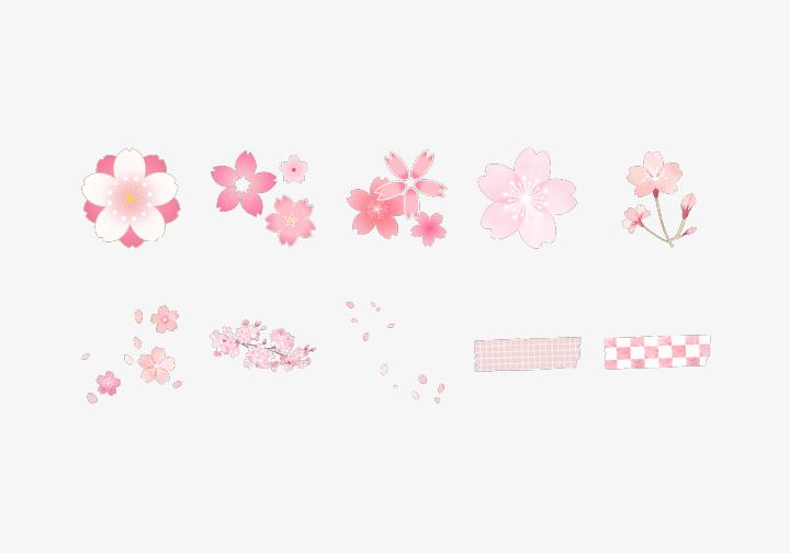 PhotoGrid Stickers Sakura Vibes