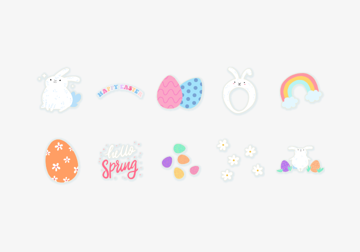 PhotoGrid Stickers Easter Rabbit