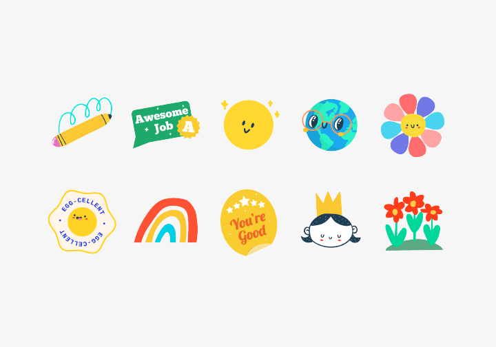 PhotoGrid Stickers Cheer Up!