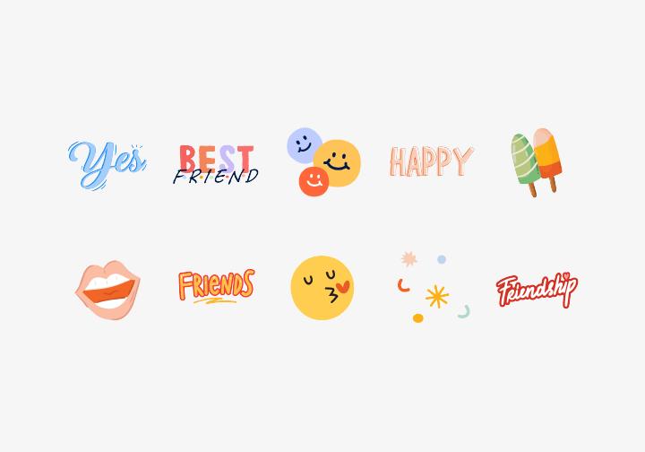 PhotoGrid Stickers Best Friend