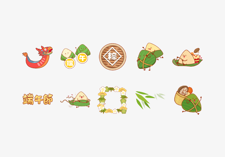 PhotoGrid Stickers Cute Dragon Boat