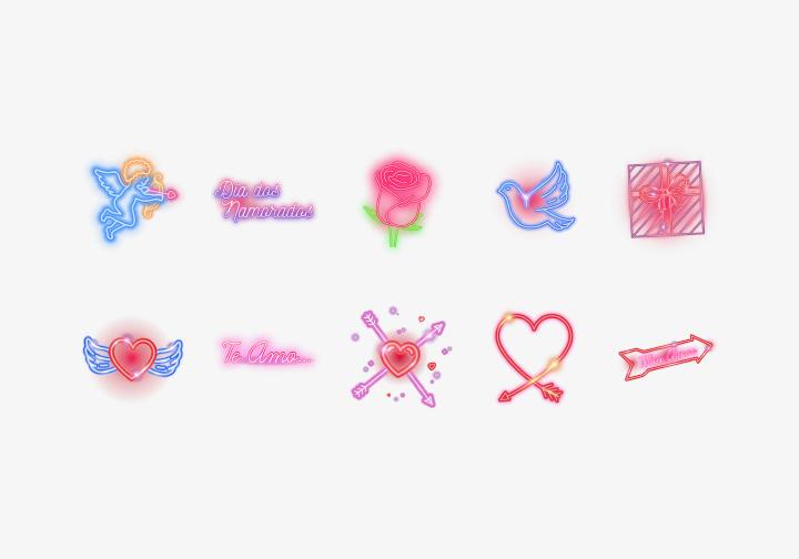 PhotoGrid Stickers Dia dos Namorados
