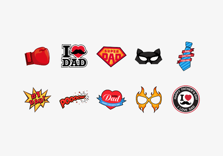 PhotoGrid Stickers Super Daddy