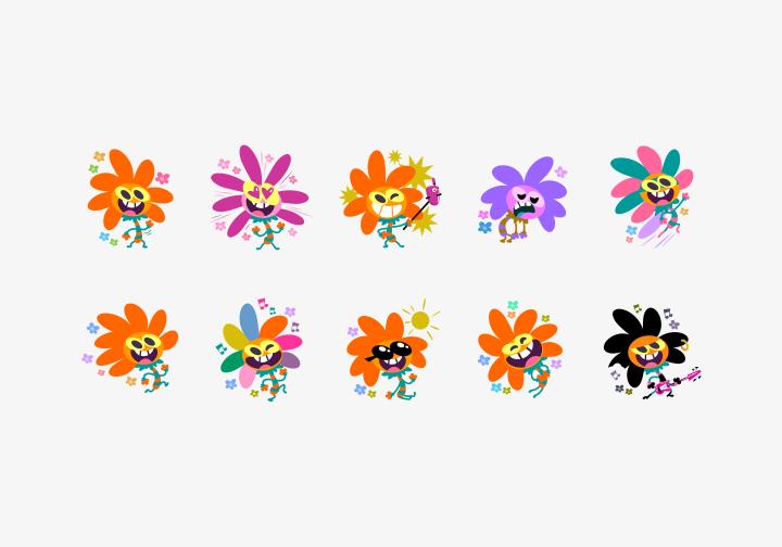 PhotoGrid Stickers Flower Power