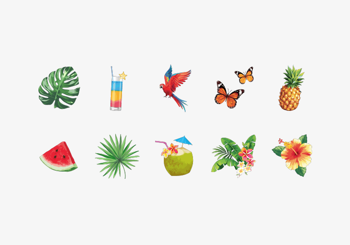 PhotoGrid Stickers Tropical Stickers
