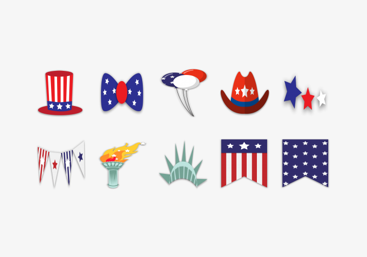 PhotoGrid Stickers Independence Day