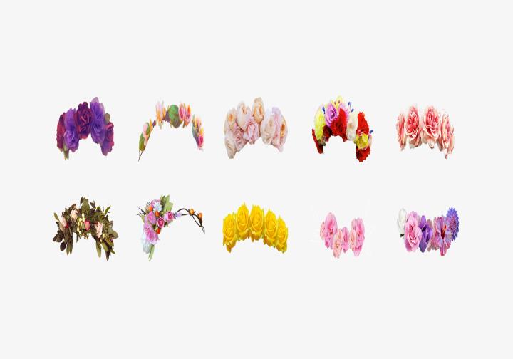PhotoGrid Stickers Flower Crown
