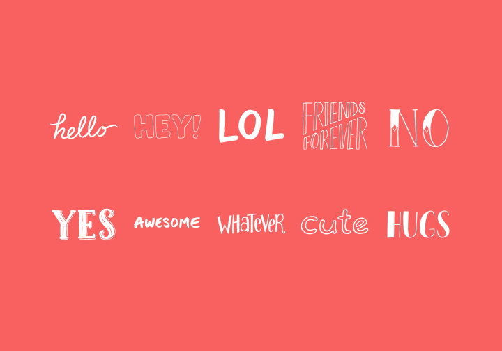 PhotoGrid Stickers Phrases Vol. 1