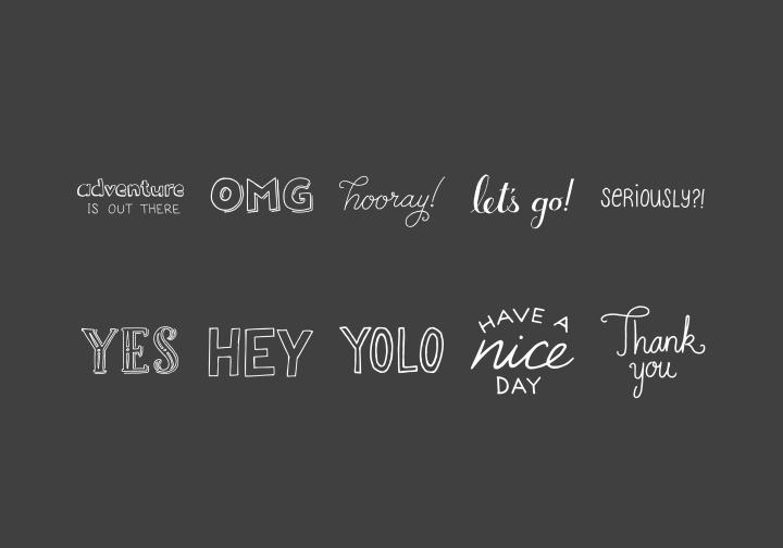 PhotoGrid Stickers Phrases Vol. 2