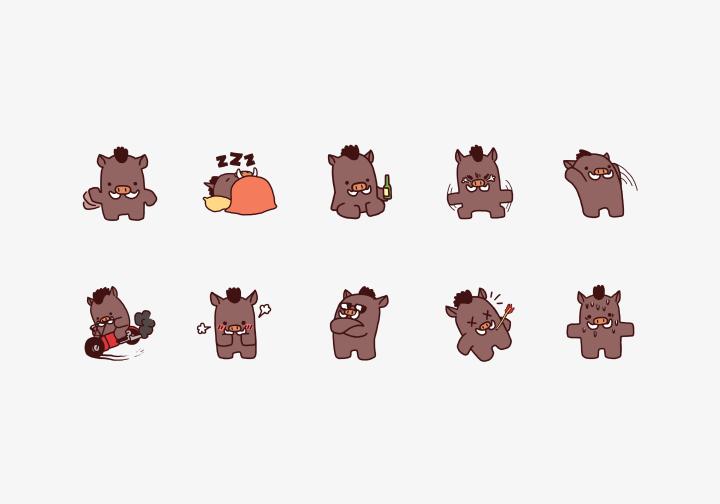 PhotoGrid Stickers Roadhog