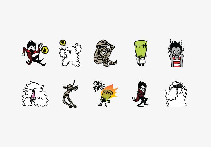 PhotoGrid Stickers Monsters Misunderstood